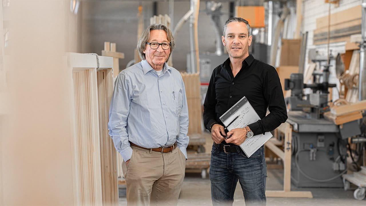 Foto Sepp Schmid und Raffael Schmid, Schmid Fenster Manufaktur