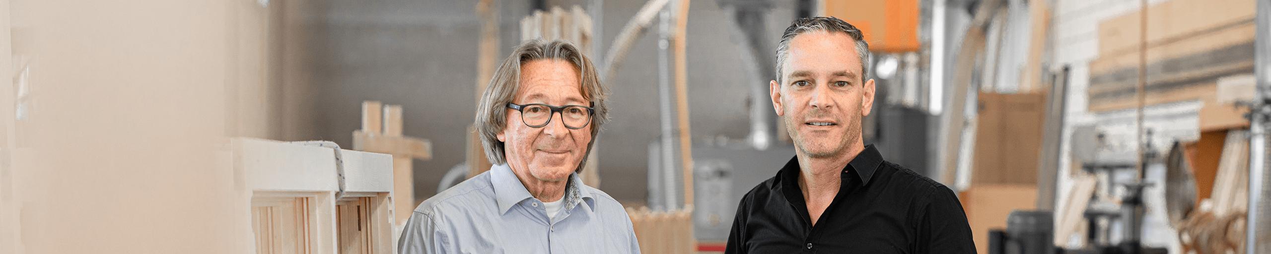 Photo Sepp Schmid et Raffael Schmid, Schmid Fenster Manufaktur