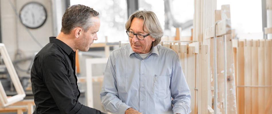 Photo Sepp Schmid et Raffael Schmid, Schmid Fenster Manufaktur - Planification de la succession