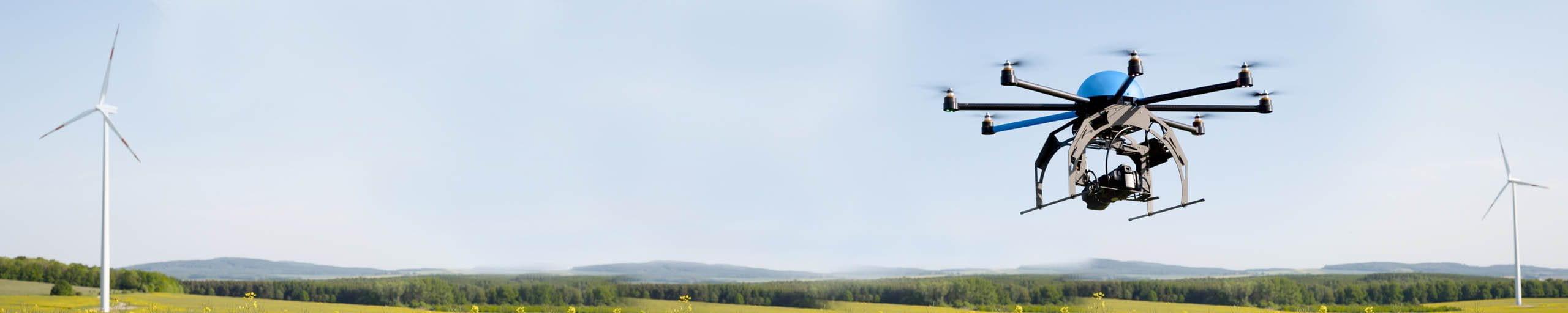fliegende Drohne