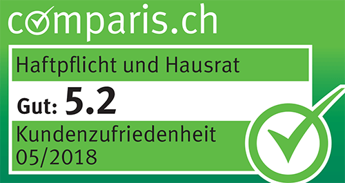 Comparis Kundenzufriedenheit Haftpflicht Hausrat 05.2018