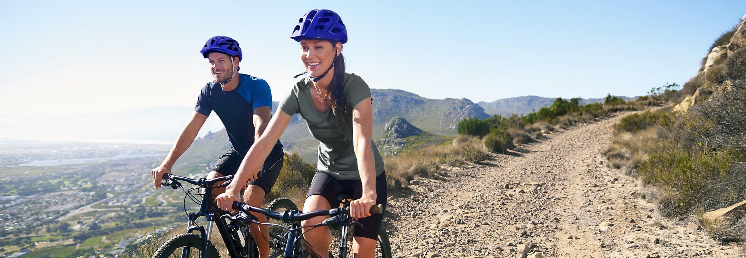 Mountainbiken Paar Spass