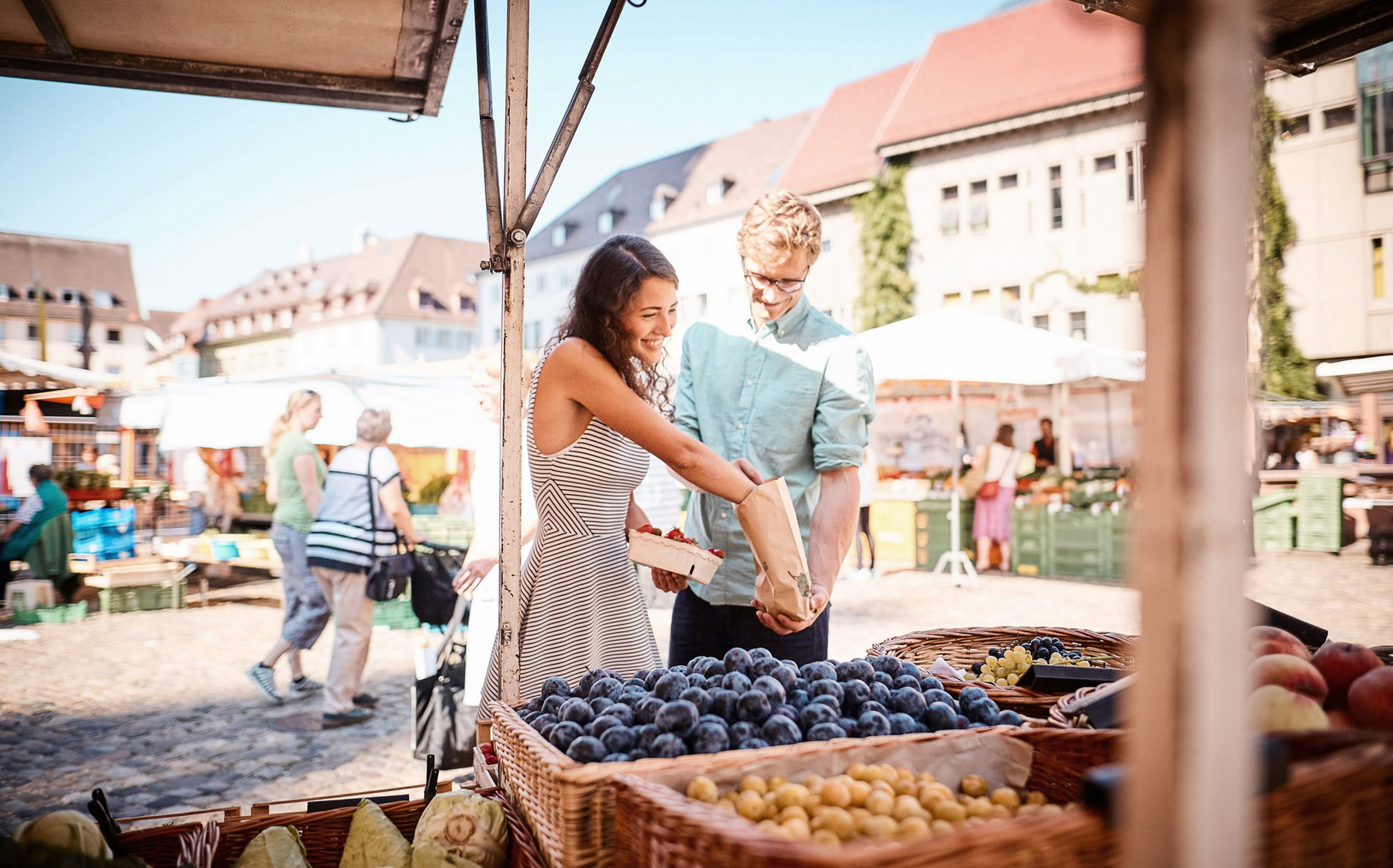 A couple at the market