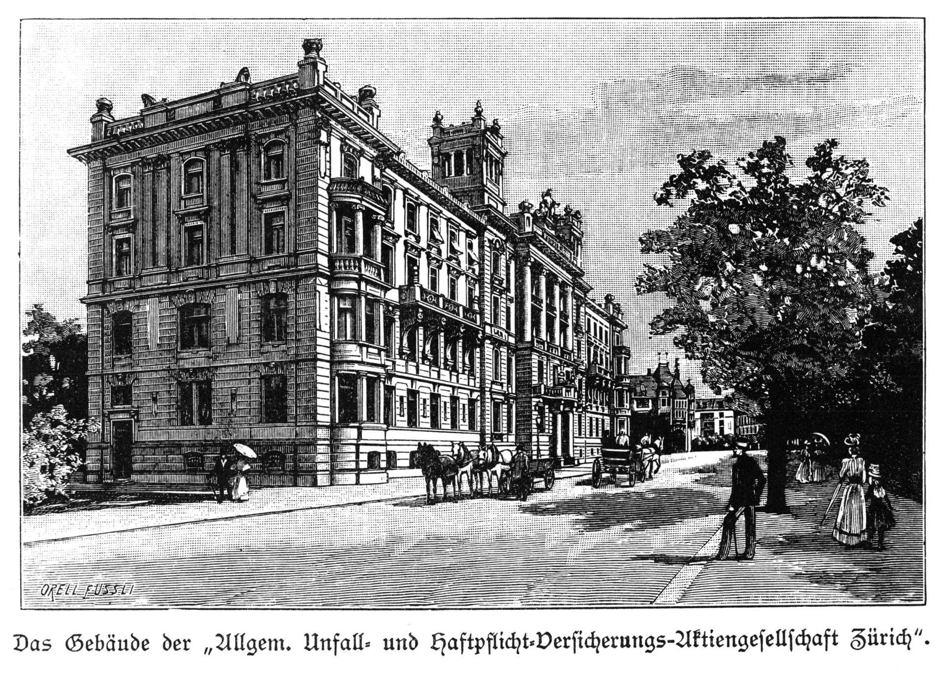 1901 Costruzione della sede principale a Mythenquai