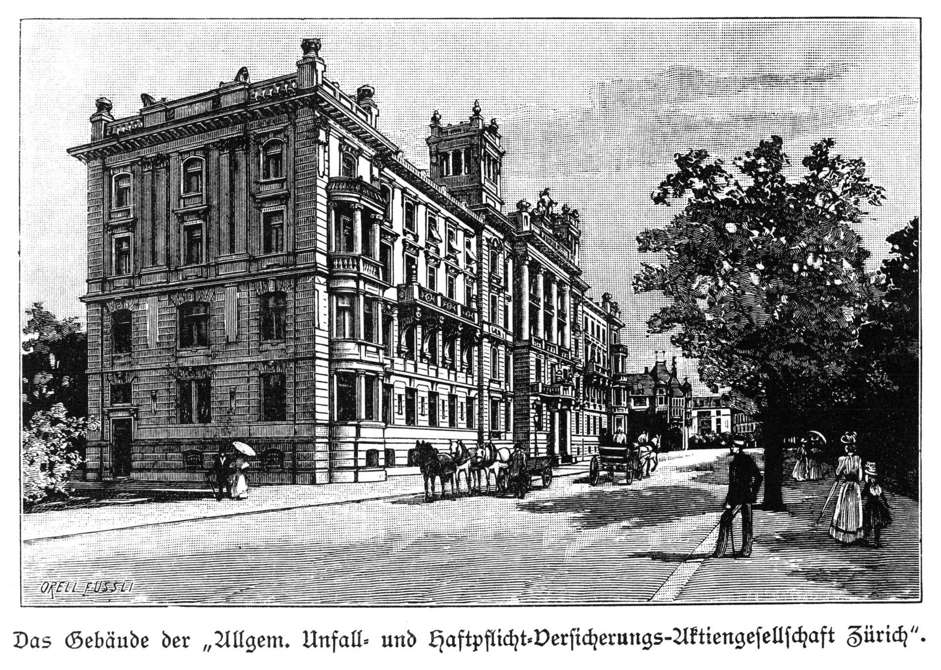 1901: Costruzione della sede principale a Mythenquai