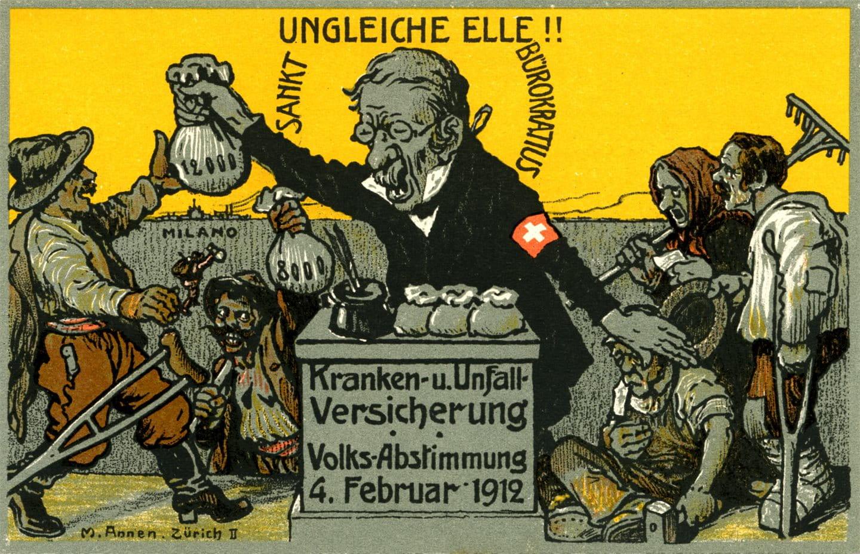 1912: Campagna referendaria senza precedenti in Svizzera