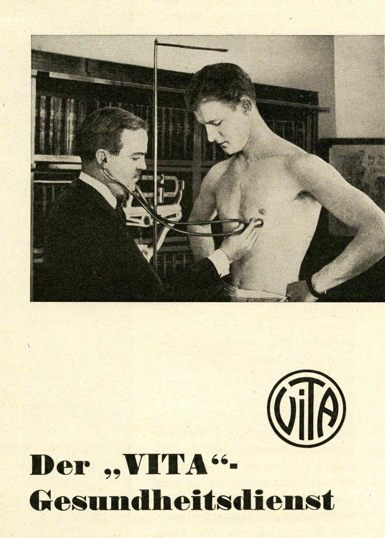 1925: Vita führt medizinische Untersuchungen ein