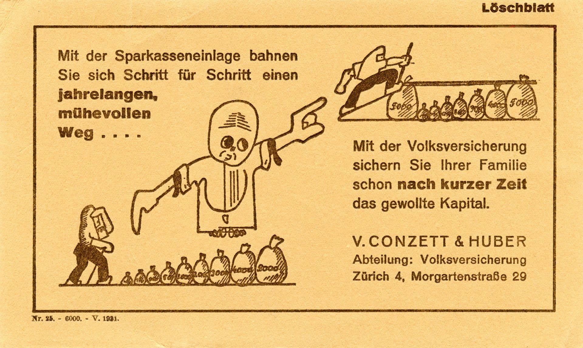 1926: Einführung der Volksversicherung