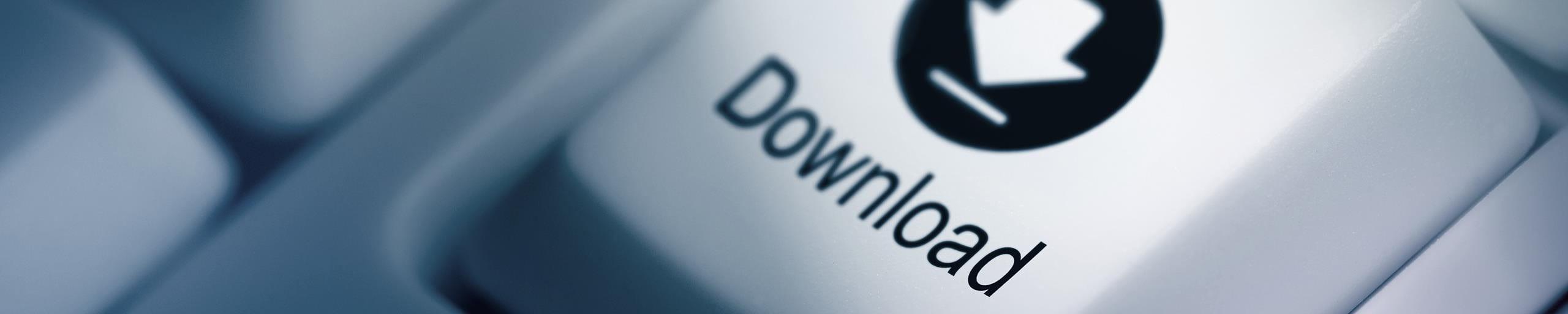Eine Computertaste mit dem Wort Download.